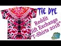 "How to Tie Dye:  Reddit ""T-Shirts 2018"" Gift Exchange  [Ice/Bowl Dye]"