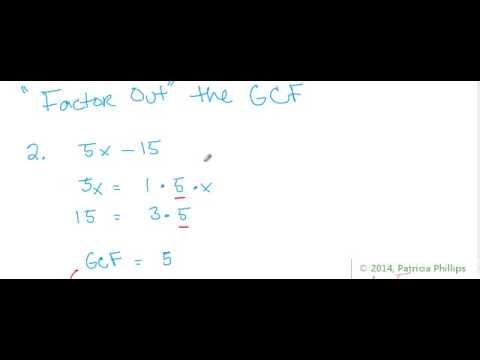 The Greatest Common Factor (GCF) of a Polynomial