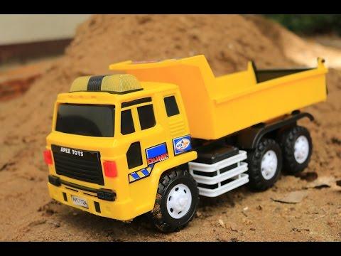 ของเล่น   รถแม็คโคร รถบรรทุก รถดั้ม รถเกรด ทำถนนเล่นกับกองทราย