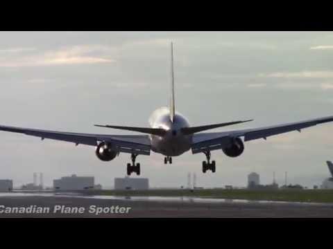 CargoJet 767-300F Crosswind Landing at Ottawa Int'l Airport