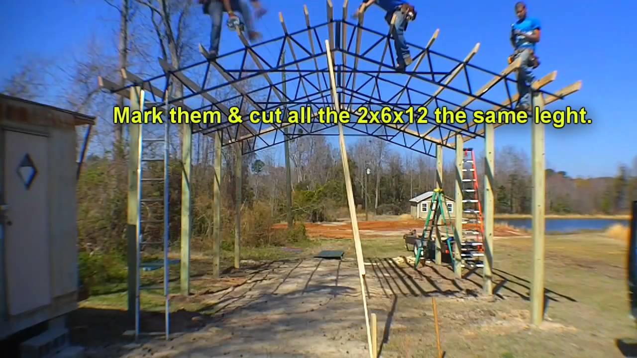 hight resolution of steel pole building open diagram