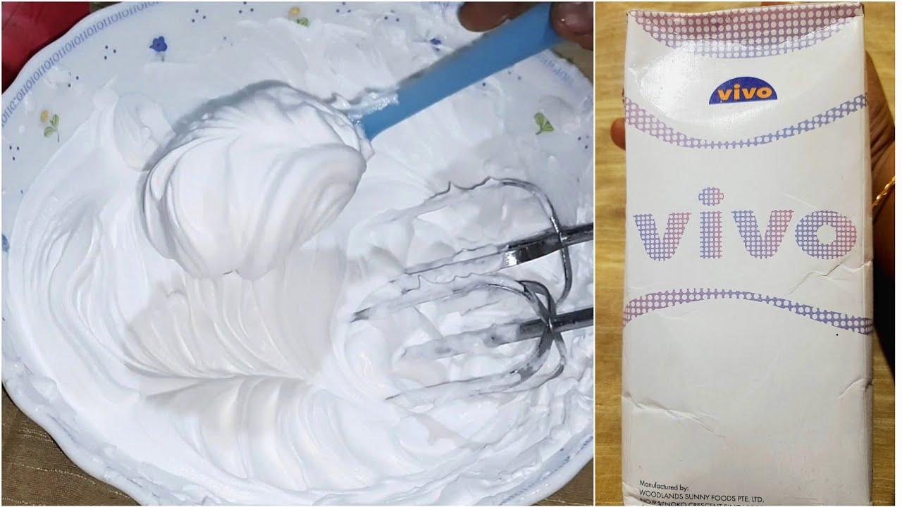 ৩-৪ মিনিটে পারফেক্ট ভিভো হুইপড ক্রিমের A to Z (গলে না যাওয়ার টিপস সহ)|Vivo whipped cream frosting |