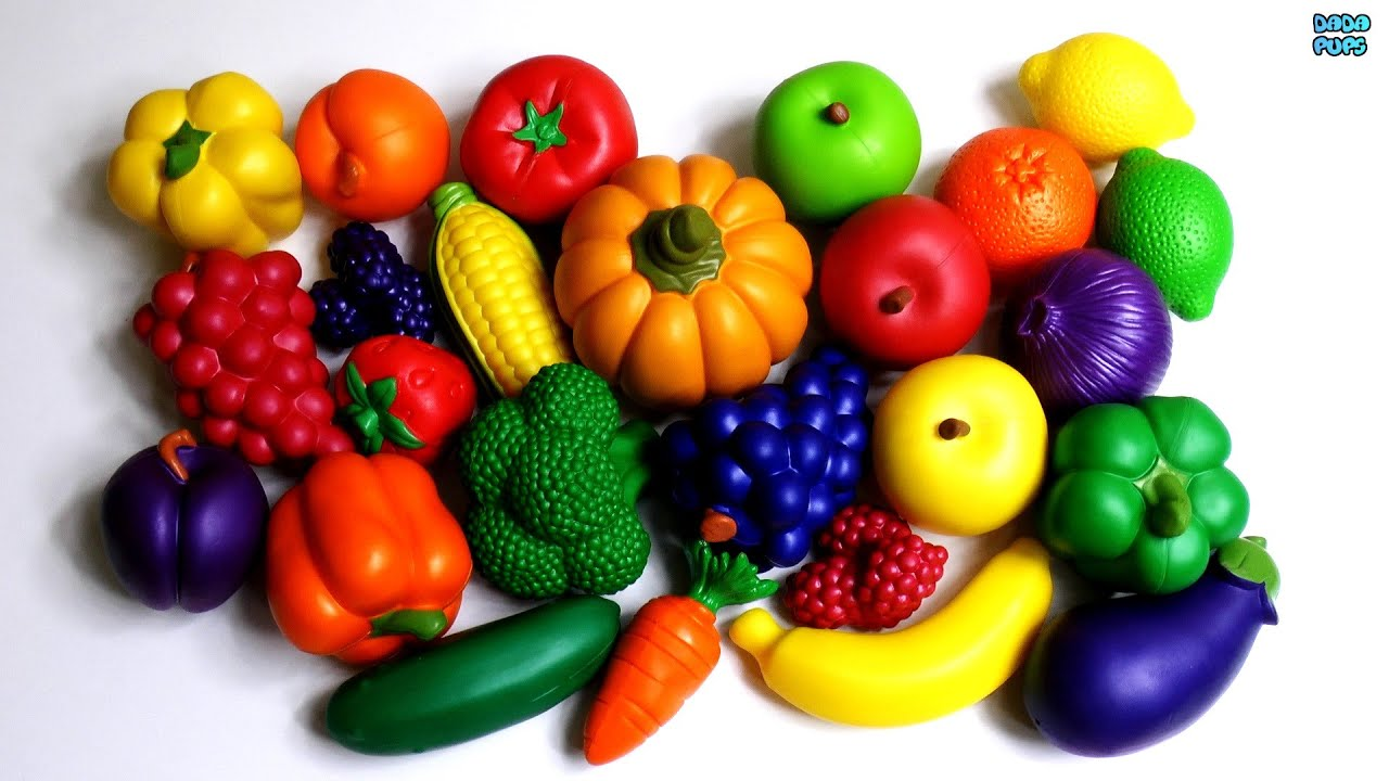 pictures of fruits and vegetables to color pdf