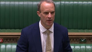 video: Dominic Raab hits out at HSBC asfirst arrests made under Hong Kong security law