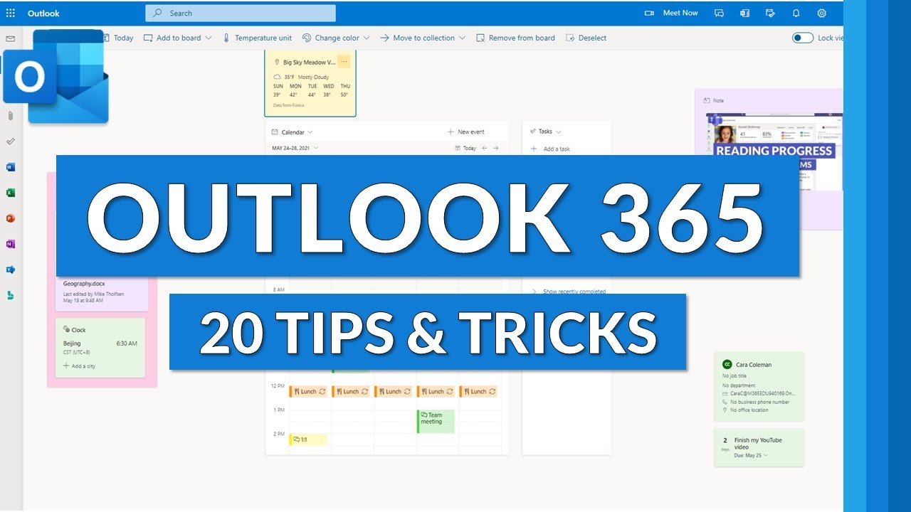 20 Outlook Web Tips and Tricks 2021 | Microsoft Outlook 365 tips for Email, Calendar, Teams & more