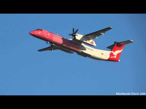 QantasLink Bombardier Dash-8-Q400 SPECIAL LIVERY [VH-QOH] | Takeoff RWY01 | Brisbane Airport