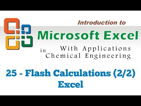 Excel for Chemical Engineers I 25 I Flash Calculations (2/2) [Excel]