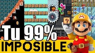 Uno de los Niveles Más Complicados de mis Subs !! - 99% Imposible de Suscriptores #13 | Mario Maker