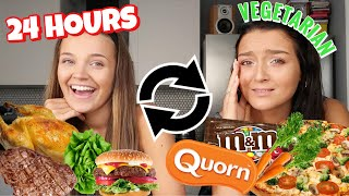 I SWAPPED DIETS for 24 HOURS with my VEGETARIAN BEST FRIEND! 😱