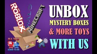 Unboxing 🎁Minecraft and Roblox Mystery 🎁 Boxes after the Toy Hunt || Lots of Fun stuff