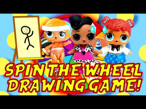 LOL Surprise Dolls Toy Story 4 Aladdin Spin the Wheel Drawing Game w/ Dollface!   LOL Dolls Families