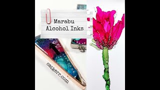 Marabu Alcohol Inks Test and Projects