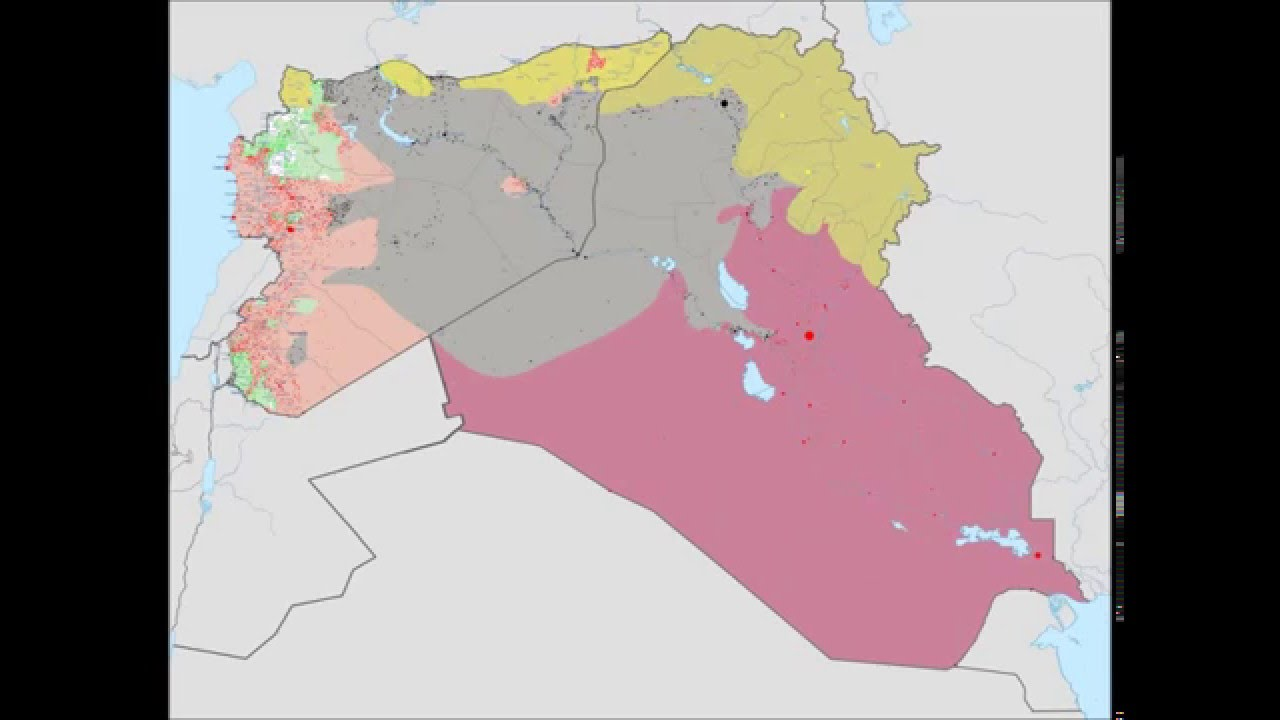 ISIS Wikipedia map 13 June 2014   30 August 2015   YouTube ISIS Wikipedia map 13 June 2014   30 August 2015
