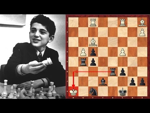 12 Year Old Kasparov Checkmates His Opponent In The Most Beautiful Way!