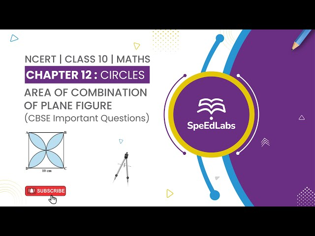 NCERT Class10 Maths Chapter 12:Circles|Area of combination of plane figure| CBSE Important Questions
