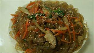 """Корейский аналог """"Оливье"""", салат для праздничного стола - чапче"""