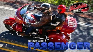 How to ride with a passenger on a motorcycle