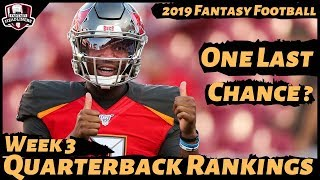 2019 Fantasy Football Rankings - Week 3 Top 20 Quarterbacks