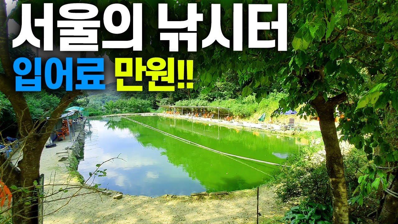 대박! 서울에도 낚시터가 있었다니?. 입어료 1만원짜리 손맛터가 서울 산속에 재오픈했어요 북한산낚시터에 다녀왔습니다