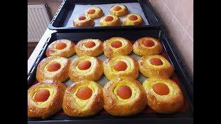 Ватрушки с ТВОРОГОМ и АБРИКОСОМ нежнейшее тесто на КЕФИРЕ выпечка с абрикосами  выпечка на кефире