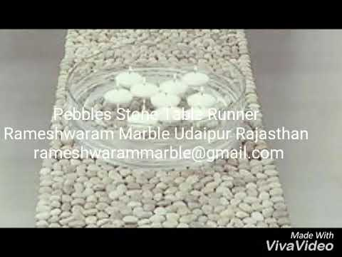 RM Pebbles Small Beach Stone Table Runner For Home Decor