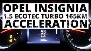 Opel Insignia 1.5 Ecotec Turbo 165 KM (MT) - acceleration 0-100 km/h