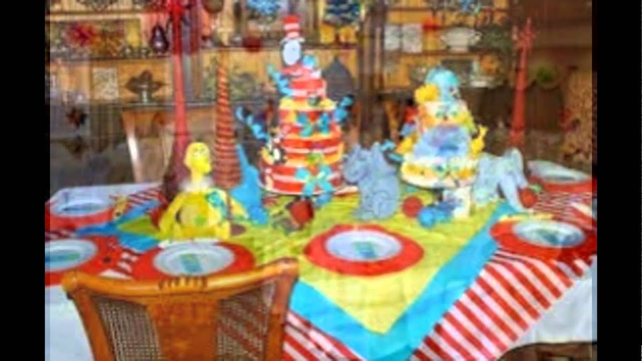 Dr Seuss Baby Shower Cakes Youtube