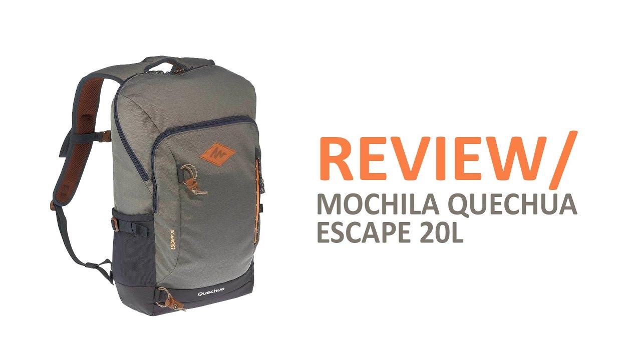 2fe99c3b2a04c REVIEW MOCHILA ESCAPE 20L QUECHUA - Mundo de Quintal - YouTube