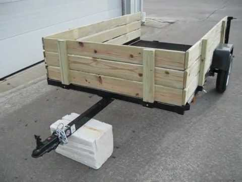 2013 5 39 x8 39 woody landscape utility atv trailer youtube for How to build a side by side