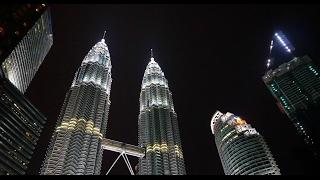 Seeing CC KL Towers at NIGHT in Kuala Lumpur, MALAYSIA