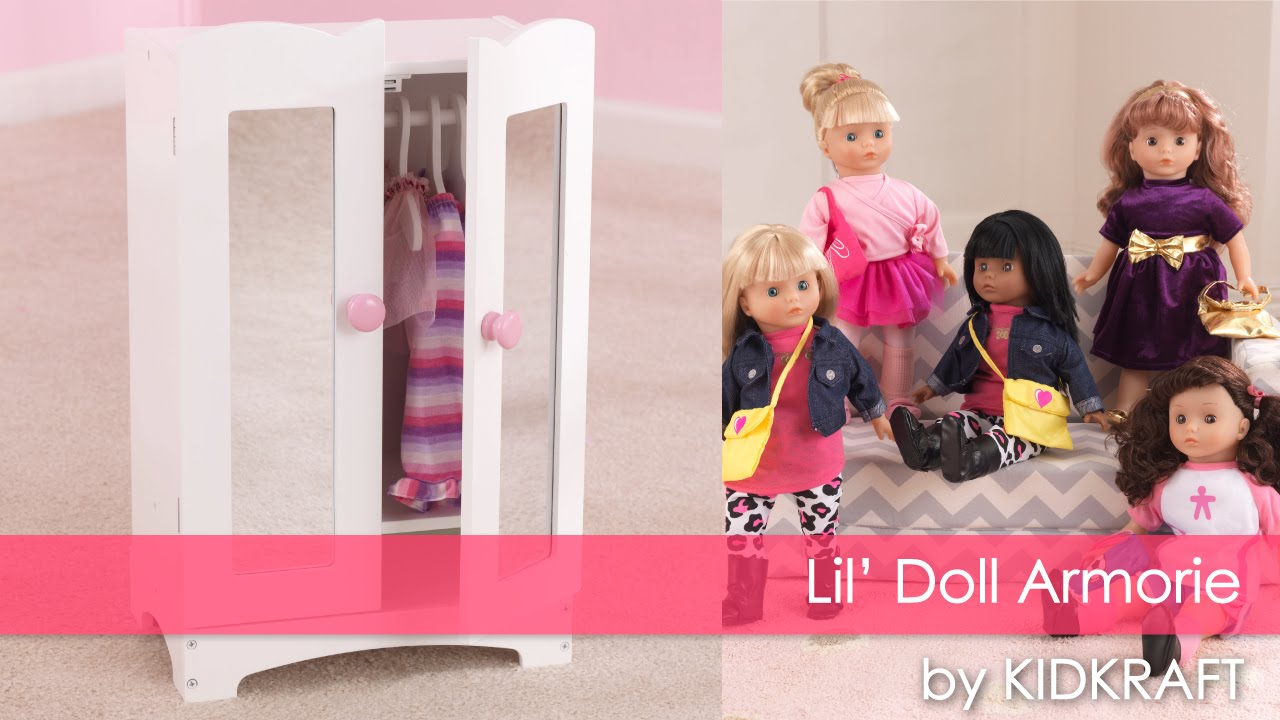 Girlu0027s Lilu0027 Doll Armoire   Toy Review   YouTube