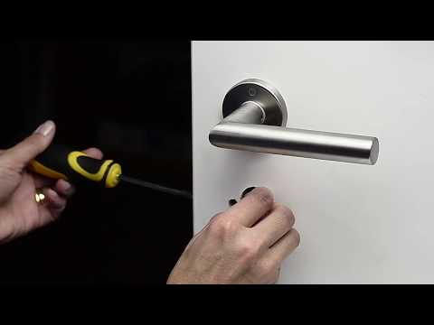 Danalock V3 - how to install cylinder in door