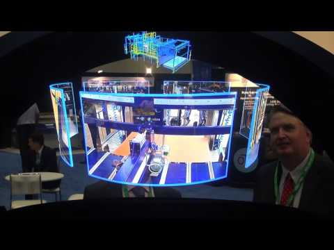 Interactive 3D Hologram Projector featured at SuperCorr Expo Trade Show