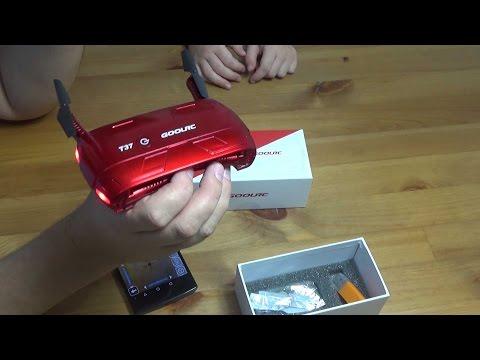 GoolRC T37 - складной квадрокоптер с камерой и Wi-Fi. Распаковка