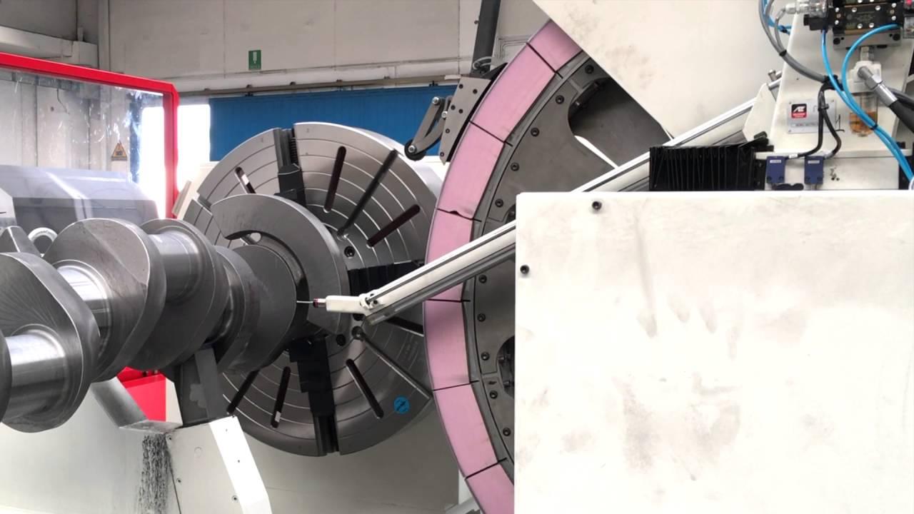 DB10000 CNC Crankshaft Grinding Machine - Touch probe - YouTube