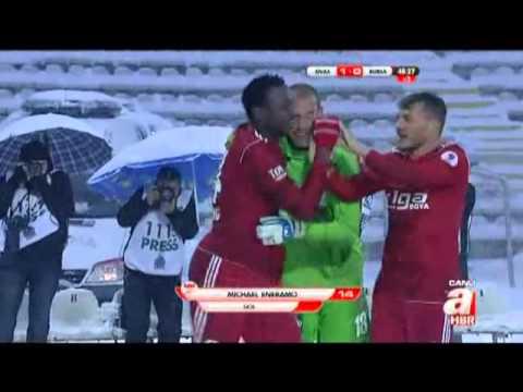 Sivasspor- 1 - Bursaspor- 0 - 45+ Eneramo - 13.1.2013
