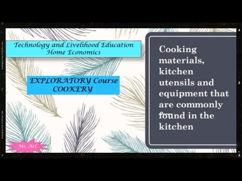 Cooking Materials, Kitchen Tools, Utensils And Equipment | Cookery Exploratory | TLE