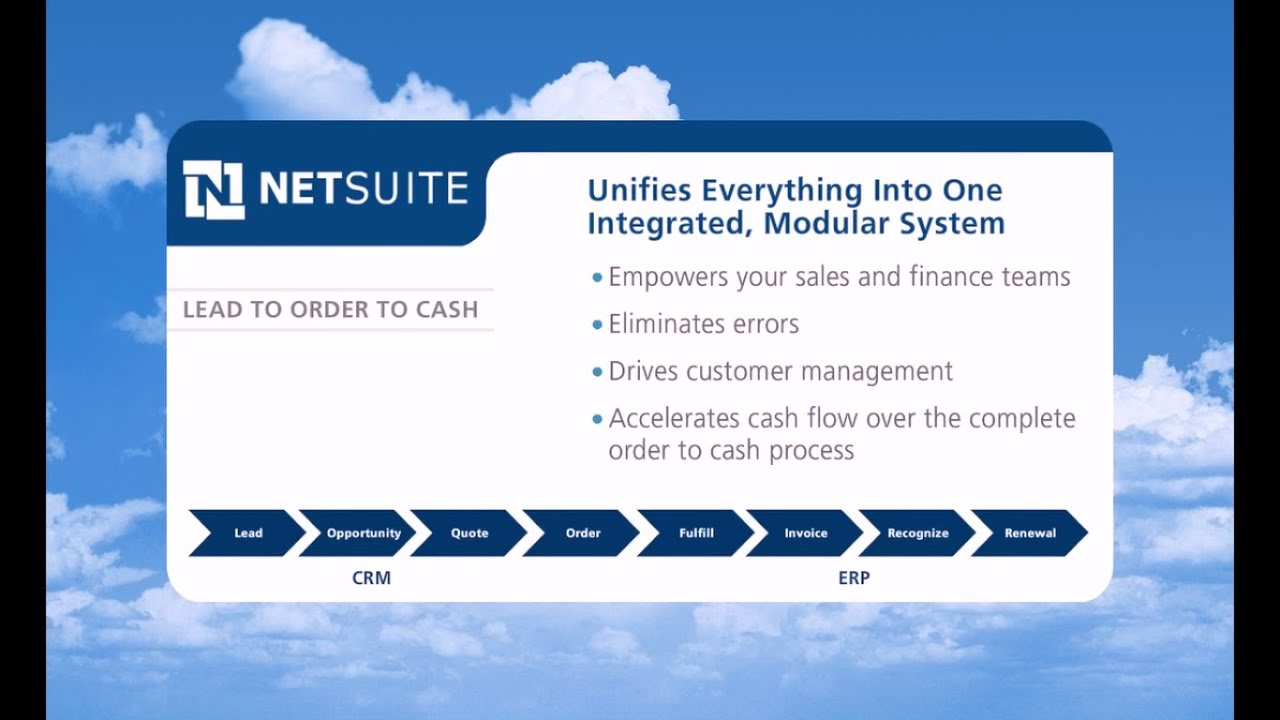 Netsuite Erp Product Demo Order To Cash Youtube