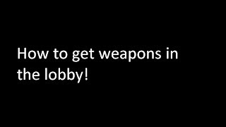 How to Get weapons in the Lobby (Roblox Nightmare Fighters) (Patched)