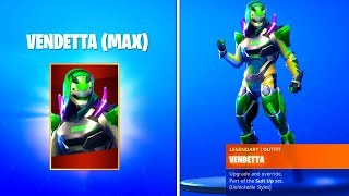 HOW TO GET MAX VENDETTA SKIN & FREE REWARDS IN FORTNITE SEASON 9! (UNLOCK VENDETTA STAGES TIER 100)