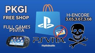 Descargar e instalar juegos para PS Vita GRATIS 3.68 2018 [PKGj] H-Encore