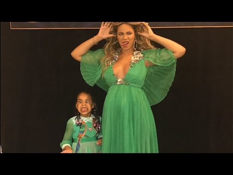 Download Youtube: Beyonce and Blue Ivy Look Like Disney Princesses at 'Beauty and the Beast' Premiere