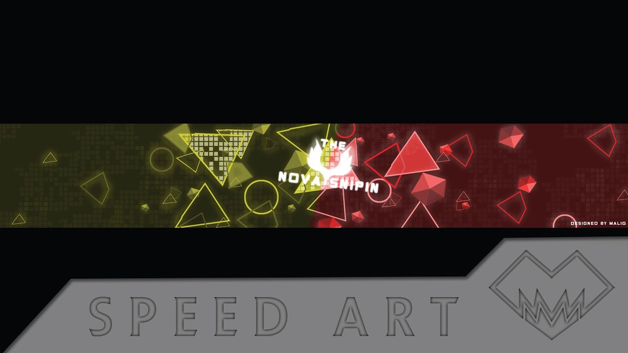 The Nova Sniping Abstract Style Banner Design