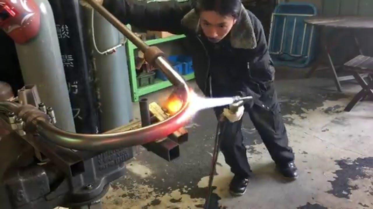 motor rock hand bend exhaust pipe 手曲げエキゾーストパイプ