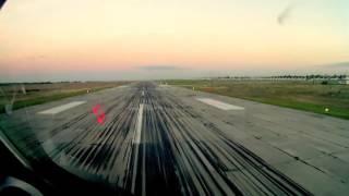 Ту-134:  Вылет из Челябинска. Съемка из кабины пилота