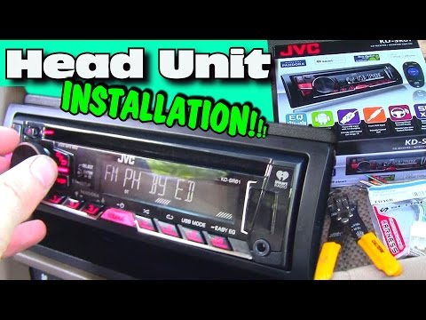 Installing an Aftermarket CD Player w/ JVC Head Unit | Double Din Dash Kit Install & Wiring Harness
