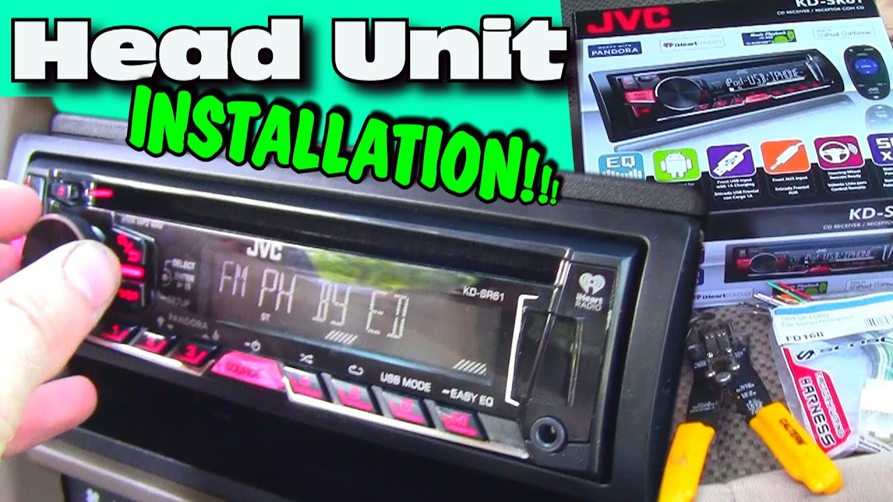 Installing An Aftermarket Cd Player W Jvc Head Unit Double Din Pioneer Wiring Harness For Dash Kit Install Youtube
