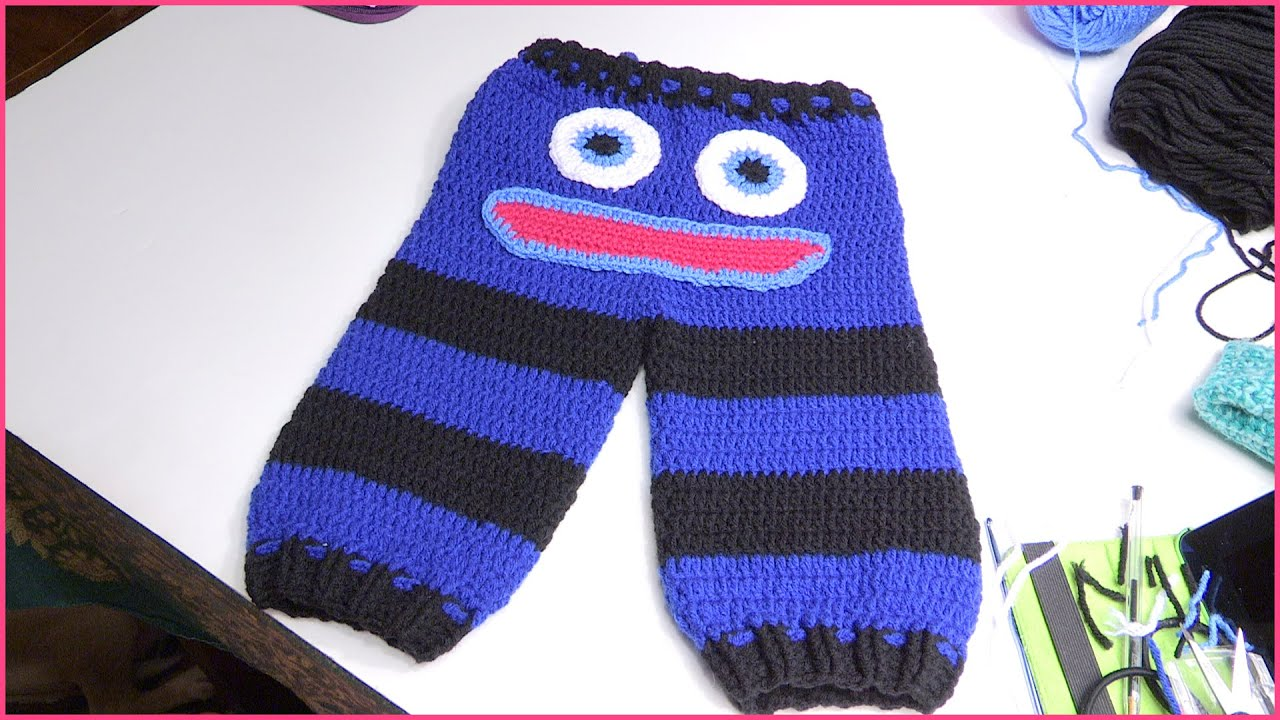 Crochet Pattern Baby Monster Pants : How to Crochet Baby Monster Pants Size 6-12 Months - YouTube