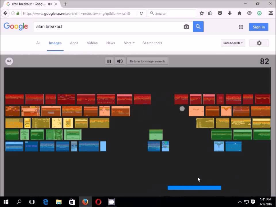 How To Play Googles Classic Atari Breakout Game Googles Hidden Easter Egg