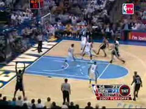 Denver vs San Antonio 2007 NBA Playoffs Game 4 Highlights